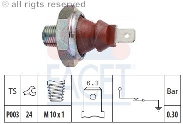 Porsche Porsche Engine Parts - Facet - Engine Oil Pressure Switch - 7.0010
