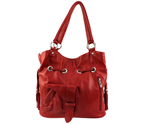 Chloly Borsa Donna Rosso A Scuro Mano rrdFgnwq