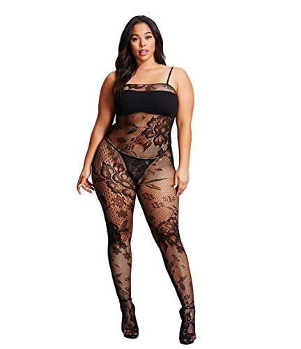 Curbigals Women Sexy Lingerie Plus Size Crotchless Bodystocking Fishnet Bodysuit