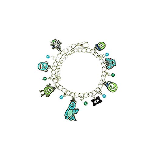 Outlander Gear Disney's Monsters INC. Charm Bracelet Movie Jewelry Multi Charms - Wristlet Mike and Sully Collection -