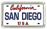 "San Diego California License Plate Small Fridge Acrylic Collector's Souvenir Magnet 2"" X 1.25"""