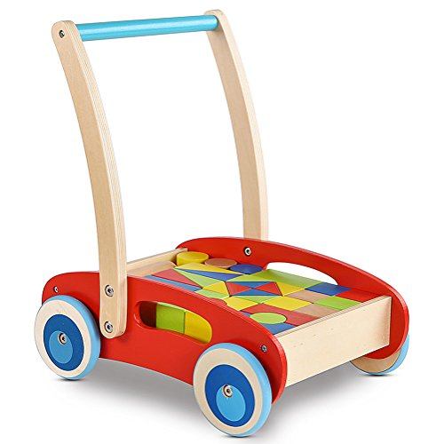 Wooden Baby Learning Walker Toddler Toys For 1 Year Old