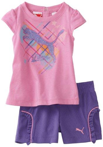 PUMA   Kids Baby Girls' Tee And Mesh Short