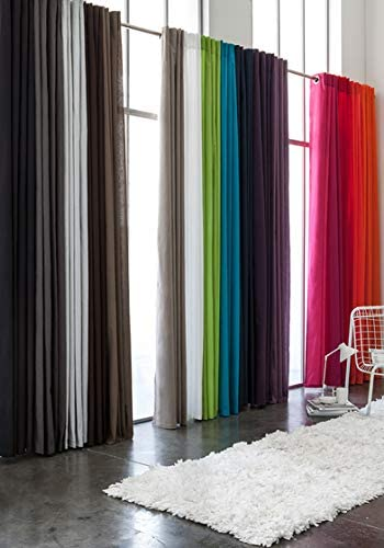 TODAY – Tenda in Poliestere con Passanti, Dimensioni: 140 x 260 cm, Colore:Bronzo, Poliestere, Rosso, 140×260 cm