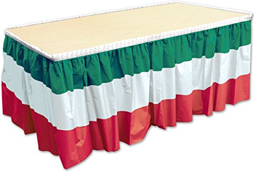 DDI 2181780 Red, White & Green Table Skirting Case of 6