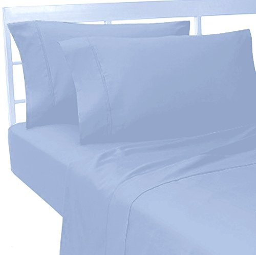 MARRIKAS 100% Viscose From Bamboo KING Sheet Set BLUE