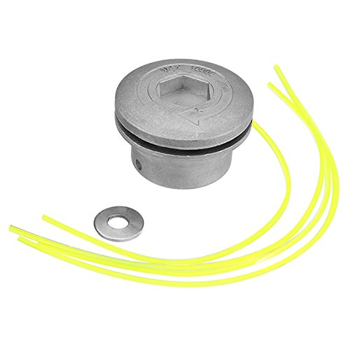 Hitommy Aluminum Grass Trimmer Head with 4 Nylon Lines Brush Cutter Head for Strimmer Replacement