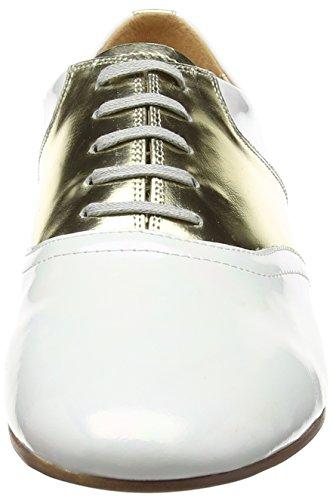 Mujer Jycx15pr5 Blanco Zapatos Cordones 1 de Giudecca Brogue p1xBn1q