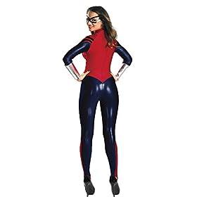 - 41DiuplWDNL - Engerla Spider Man Marvel Cosplay Suit One Piece Pajama for Women