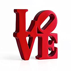 Torre & Tagus 902378 Word Art RED Resin Decor-Love