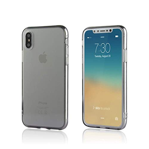 iPhone XS & X Case / Slim & Soft Transparent Smoke Black Cover for iPhone XS (2018) and X (2017) / Soft Flexible & Stylish Colors Compatible with all 5.8 inch X/XS models (Black, X/XS 5.8