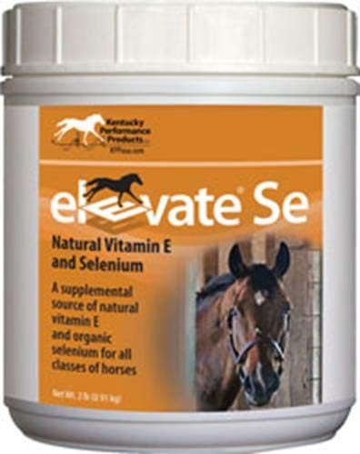 Kentucky Performance Prod Elevate Se Natural Vitamin E and Selenium Powder for Horses, 2 Pound Container by Kentucky Performance Prod