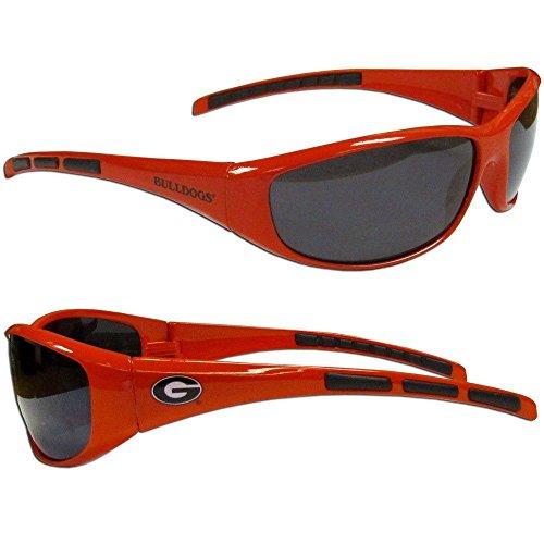 Purchadise NCAA 3-Dot Wrap Sunglasses-UVA and UVB Protection-Many Teams! (Georgia Bulldogs)
