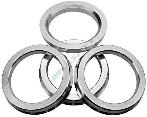 4 Centrage en Aluminium //// en Aluminium Tailles Diff/érentes au Choix 76,0-57, 1