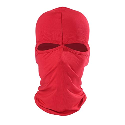 Xiabing Balaclava Breathable Lightweight Lycra Ski Full Face Mask for Cycling Sports (Red)
