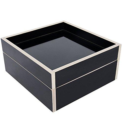 Arolly Wood Watch Case Stroage Box Valet Organizer in Black