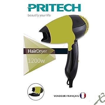 Plegable Secador viaje 2 velocidades soufle 1200 W - Pritech: Amazon.es: Salud y cuidado personal