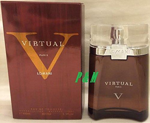 VIRTUAL V BY LOMANI COLOGNE FOR MEN 3.3 OZ / 100 ML EAU DE TOILETTE SPRAY