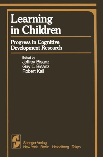 Learning in Children: Progress in Cognitive Development Research (Springer Series in Cognitive Development)