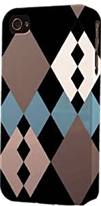 Black Diamond Pattern Dimensional Case Fits Apple iPhone 5c