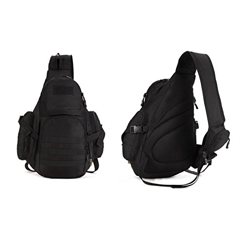 Tactical Military Molle Sunvp nero Bag l'escursionismocampeggioesterno Backpack Crossbody Chest tracolla per 0PnwO8k