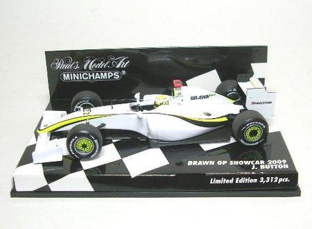 (Jenson Button Brawn GP Formula 1 showcar 2009 1:43 scale diecast model by)