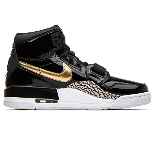 Jordan Mens Air Legacy 312 Basketball Sneakers (Black / Metallic Gold-white, 10 M US)