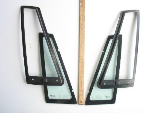 GM Luxury Sedan Pair Auto Glass Quarter Panels Housings - Replacement Ppg Auto Glass