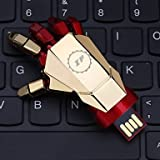 ZP 8GB Iron Man Hand Pattern Metal Style USB Flash Drive
