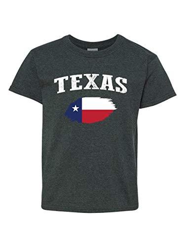 Mom`s Favorite Texas Proud Home Houston Traveler`s Gift Unisex Youth Kids T-Shirt (YMDHG) Dark Heather