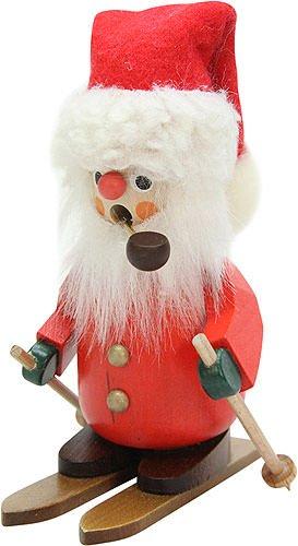German Incense Smoker Santa Claus on ski - 11,0cm / 4.3inch - Christian Ulbricht by Christian Ulbricht