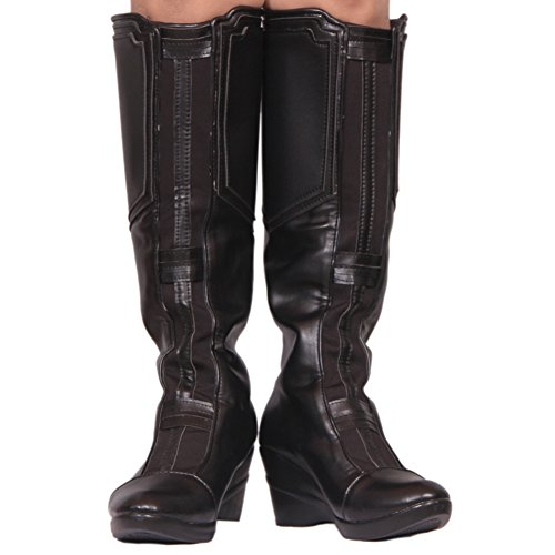 Black Widow Boots Hot Movie Cosplay PU Leather Shoes Women Costume 38 ()