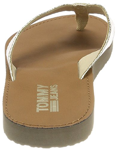 Gold Glitter Jeans Sandal 708 Or Tongs Femme light Beach Tommy 8UBxwqOO