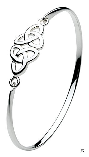 - Kit Heath Celtic Trinity Knot Bangle Bracelet in Sterling Silver 7215