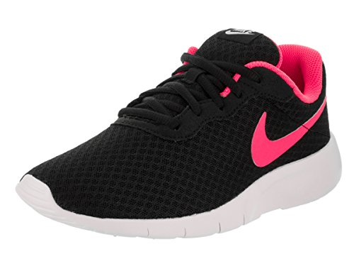 Price comparison product image NIKE Kids Tanjun (GS) Black/Hyper Pink White Running Shoe 5 Kids US