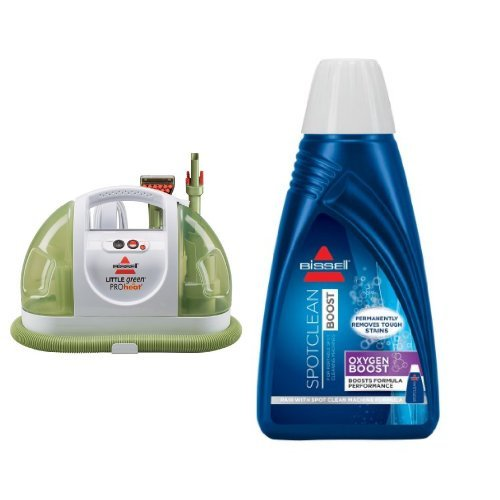 BISSELL Little Green ProHeat Compact Multi-Purpose Carpet Cleaner, 14259 - Corded and BISSELL OXYgen BOOST Portable Machine Formula, 32 ounces, 0801 Bundle by Bissell