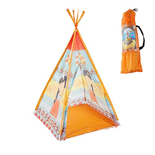 Polyester 190t - fineshelf Children's Tent Game Rome Toy Room Cartoon Tent 190T Polyester Cloth Environmentally Friendly PVC Pole