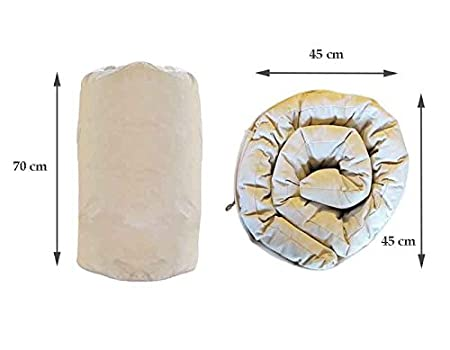 Bianco /Materasso Futon/ Europe /& Nature/ Cotone 190x70x6 cm /Campeggio Firm Cotone Bianco