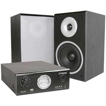 Citronic Equipo hifi Amplificador y altavoces 2 x 40W RMS