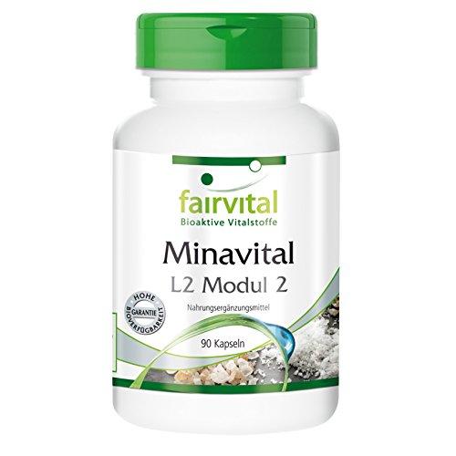 Minavital 90 Kapseln, Multimineral mit wichtigen Mineralstoffen und Spurenelementen, vegetarisch