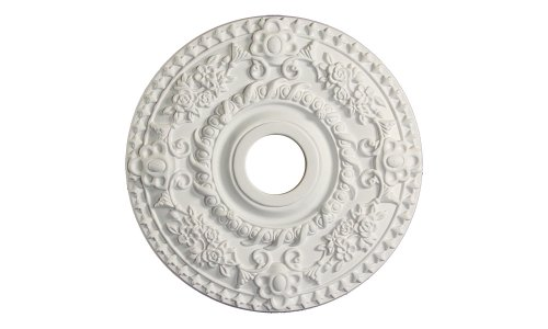 Ceiling Medallions - Ceiling Medallion for Chandeliers 18 inch (White)