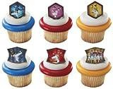 DecoPac Power Rangers Mega Force 12 Count Cupcake Rings