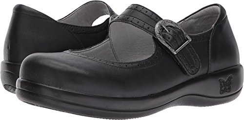 Alegria Womens Kourtney Mary Jane Black Nappa Size 41 EU (10.5-11 M US Women) by Alegria