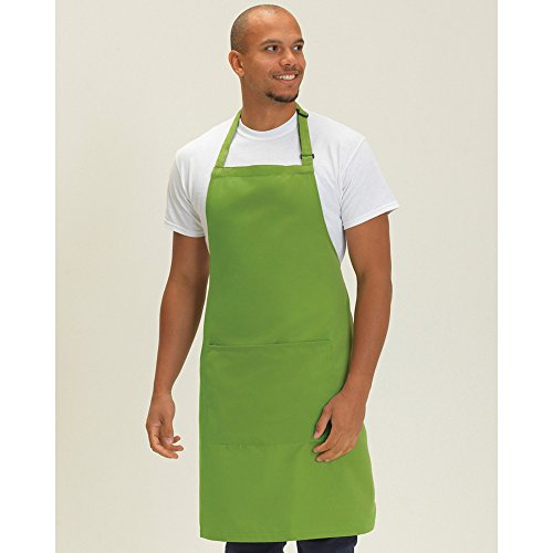 dennys-adults-unisex-catering-bib-apron-with-pocket-one-size-griffin-gray