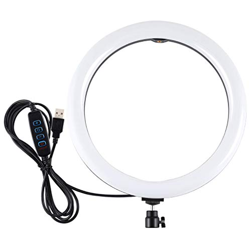 """RQWEIN 11.8"""" Dimmable LED Ring Light Kit Camera Photography Studio Video Light with Stand,Carrying Bag for Makeup Portrait Video Outdoor Shooting"""