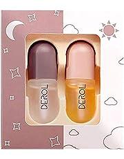 Lip Plums Minder Set, 5.5ml Mini Natural Pluming and Lip Care Serum Mond Enhancer Plumper Balm Gloss Lip Enhancer Voor Fuller Softer Hydrated Mond 2pcs
