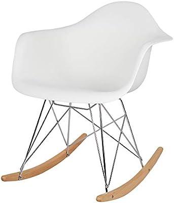Awe Inspiring Esituro Rocking Chair White Lounge Chair Relax Chair Retro Evergreenethics Interior Chair Design Evergreenethicsorg