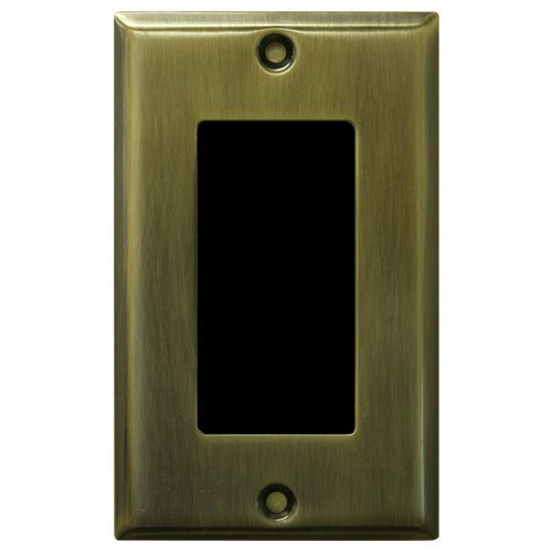 Channel Vision In-Wall 1-Gang Color Camera, WDR, Antique Brass (6204-232) by Channel Vision