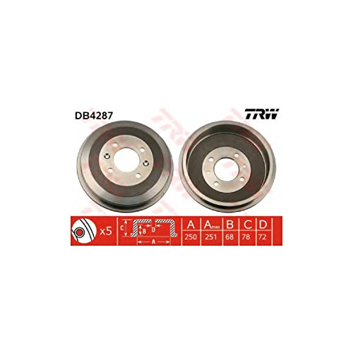 TRW DB4287 Brake Drums:
