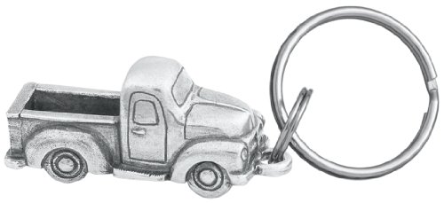 DANFORTH - Pickup Truck Keyring - Pewter - Key Fob - 2 Inches - Handcrafted - Made in USA